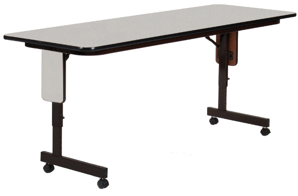Adjustable Height Wide Seminar Table W Wheels - Adjustable height training table