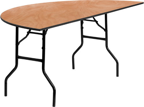 Plywood Half Round Folding Table