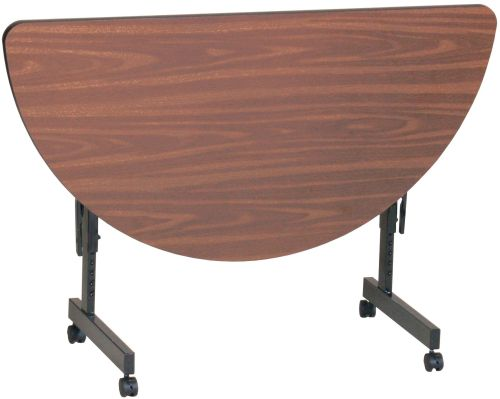 Laminate Half 48 Round Adjustable Height Flip Top Table W