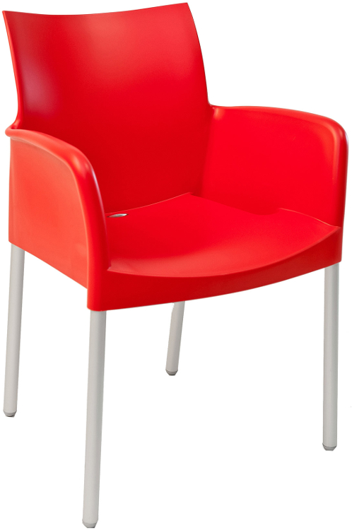 Outdoor Modern Stacking Plastic Restaurant Arm Chair