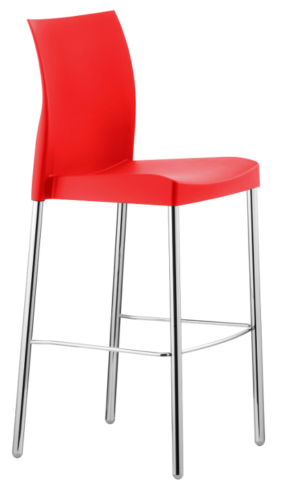 Outdoor Modern Plastic Restaurant Bar Stool W Aluminum Legs