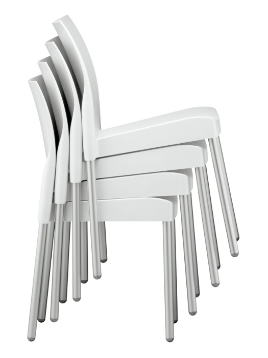 Outdoor Modern Stacking Plastic Restaurant Side Chair
