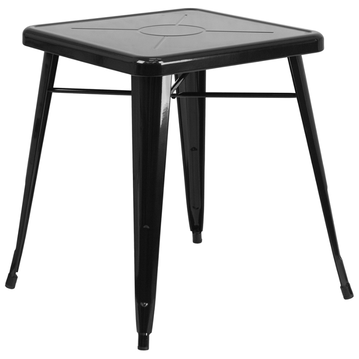 Outdoor Retro Industrial Metal 24 Inch Square Table