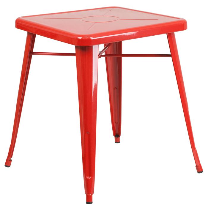 Retro Metal Table Orange