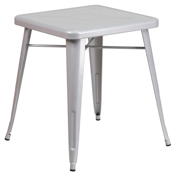 outdoor metal table. Contemporary Metal Retro Metal Table White In Outdoor