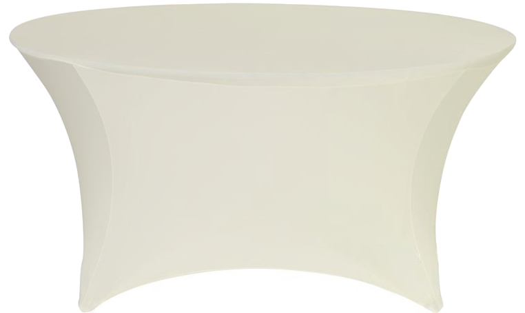 Ivory 60 Round Spandex Stretch Table Cover