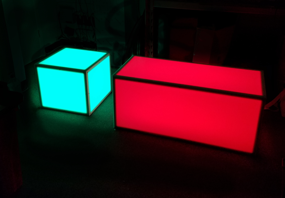 Light Up Rgb Led Coffee Table Set