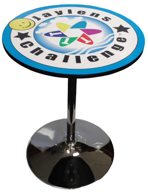 Logo Table Jaylens w/ Chrome Base