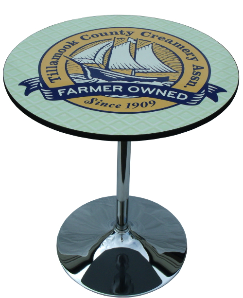 round logo graphic table top for trade shows events