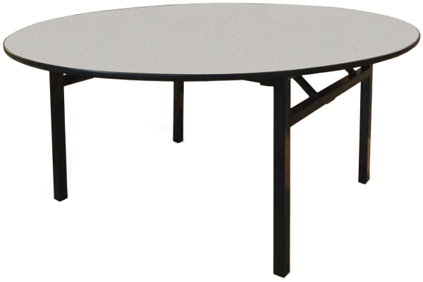60 Inch Round Square Leg Folding Banquet Table W Laminate Top