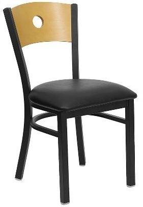 Side View  sc 1 st  Banquet Tables Pro & Wood Back Restaurant Chair w/ Circle Hole
