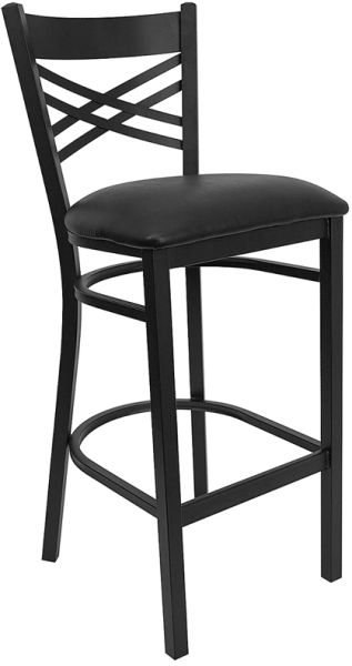 Black X Back Stool