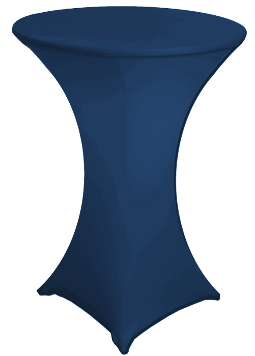 Navy Blue 30 Round X 42 Inch Tall Stretch Fitted Spandex