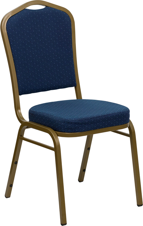 Navy Crown Back Chair