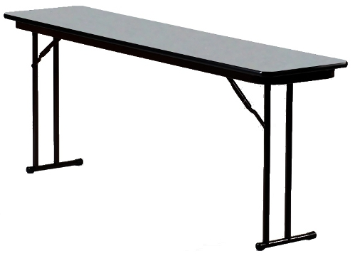 18 Inch Wide 3 4 Laminate Top Seminar Table W Off Set Legs