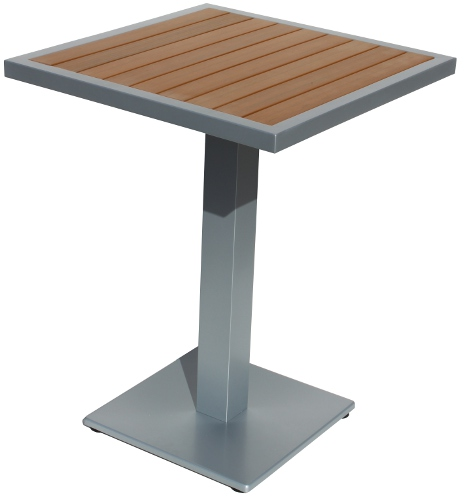 Resin Square Teak Table