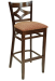 Diamond Back Contemporary Series Wood Restaurant Bar Stool w/ Upholstered Seat