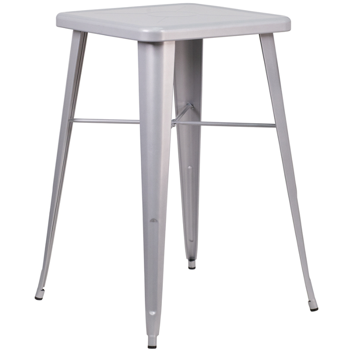 Retro Bar Table White