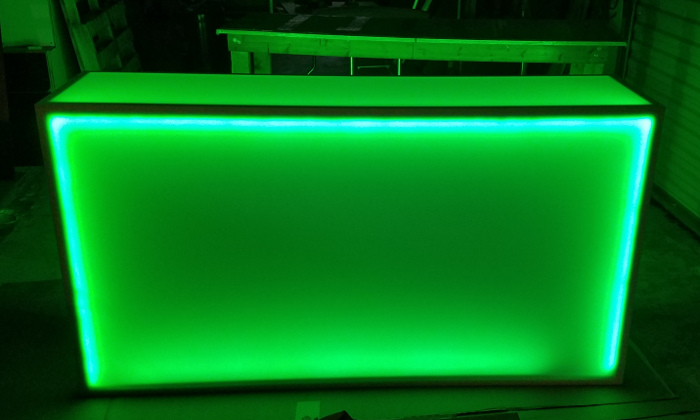 Light Up 6 Foot Rolling Counter Led Glow Bar On Wheels