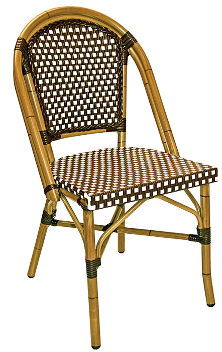 French rattan outdoor bistro chair w bamboo painted frame