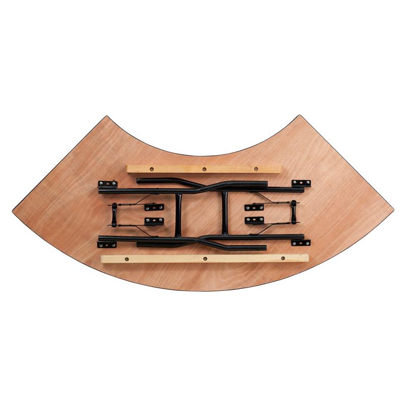60 Inch Id Plywood Folding Serpentine Table