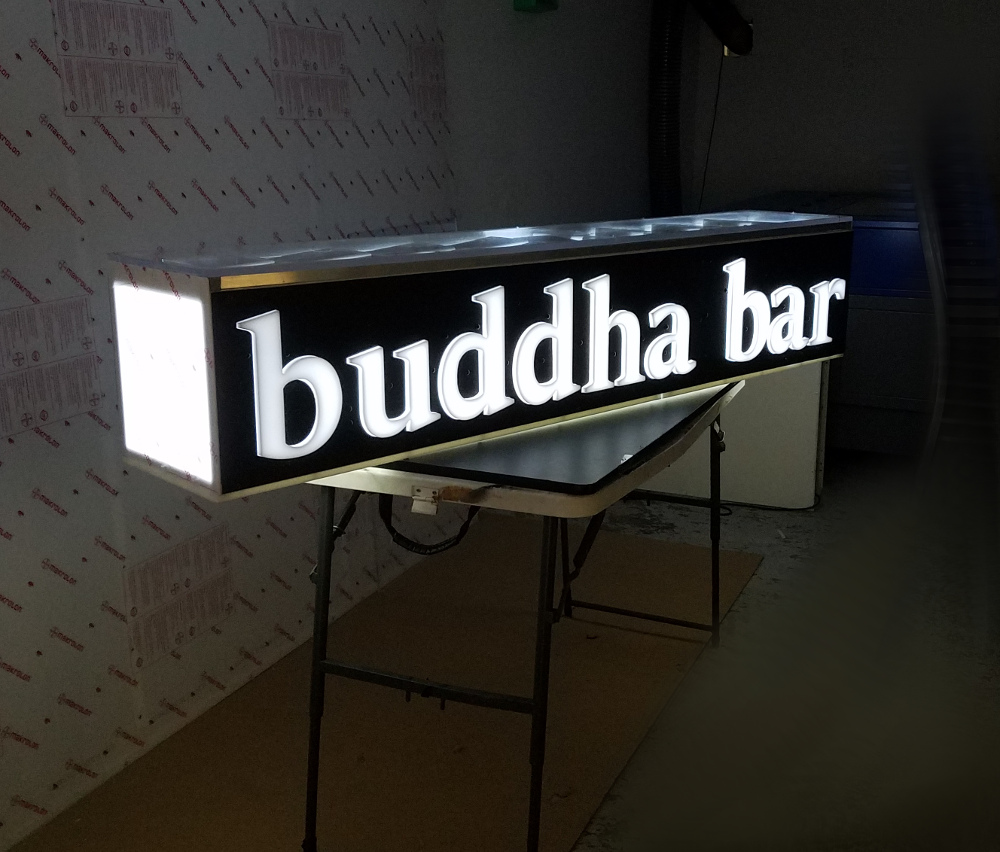 Outdoor Led Solar Powered Wireless Lightbox Signs Double
