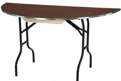 60 Inch Half Round Plywood Banquet Table