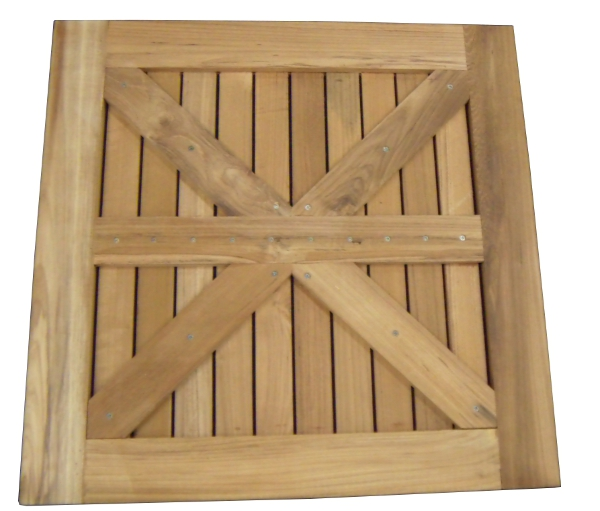 Square Teak Table Top For Outdoor Restaurant Seating