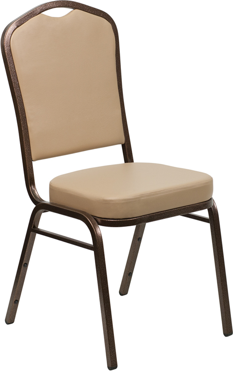 Tan Vinyl Banquet Chair