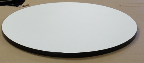 Round White Formica Indoor Table Top