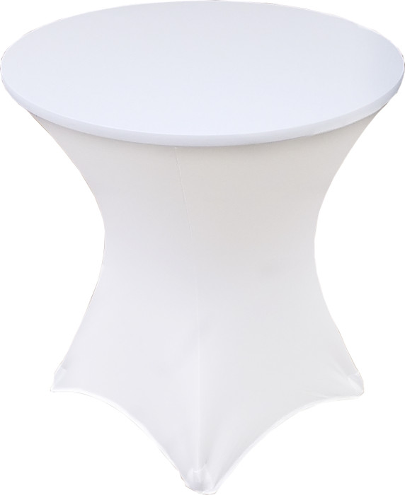 White Lowboy 30 Round x 30 Height Stretch Fitted Spandex Table Cover
