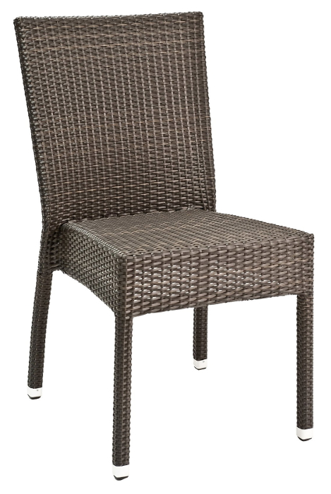 Full Weave Wicker Side Chair No Arms