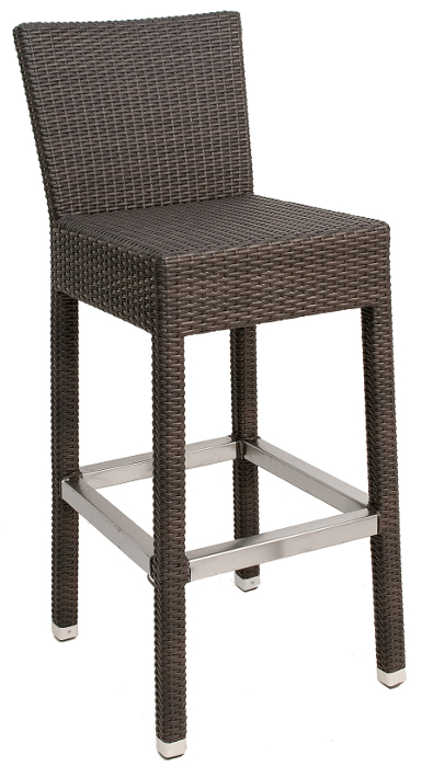 Nylon Weave Outdoor Bar Stool Indo Coffee Color