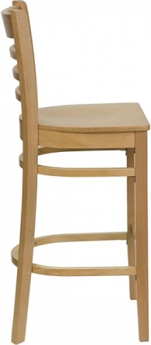 Natural Wood Bar Stool Ladder Back