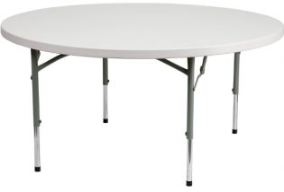 60 Round Adjustable Folding Table